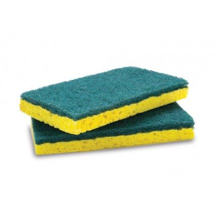 SY1249221 | YELLOW SPONGE W/GREEN SCRUB PAD  | HI-GEAR