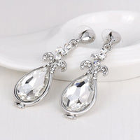 1Pair Elegant Women Crystal Rhinestone Flower Ear Stud Earrings Fashion Jewelry