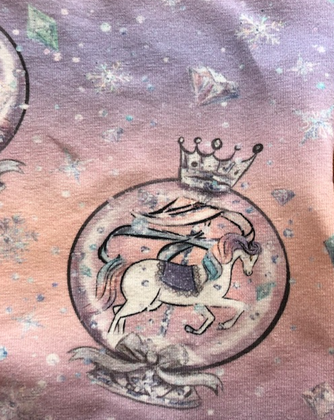 Unicorn snow globe face covering/ snood