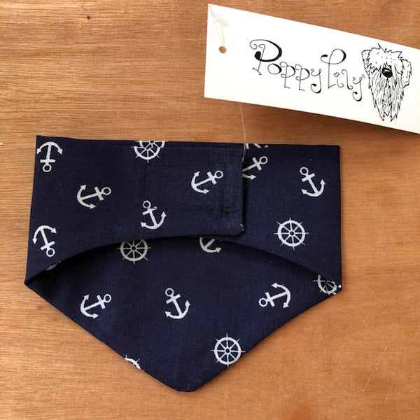 Hand made Bandana Anchor & ships wheel print