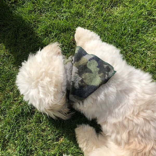 Limited Edition Hand tie Bandana Camouflage print