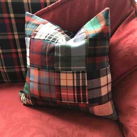 Harris Tweed Patchwork Cushion