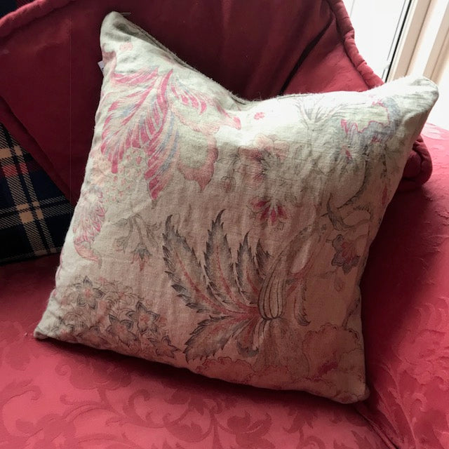 Printed Linen Cushion
