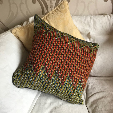 African Inspired Cube Cushion
