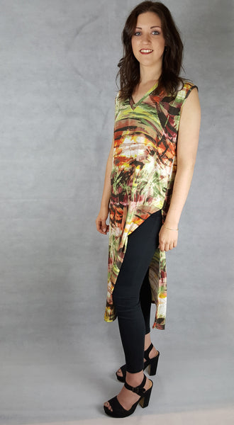 Tropical Print Oversized Dress
