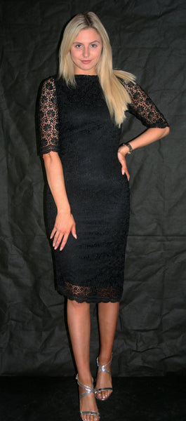 black lace occasion dress