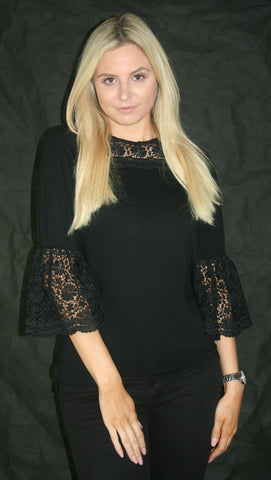 black lace top fashion