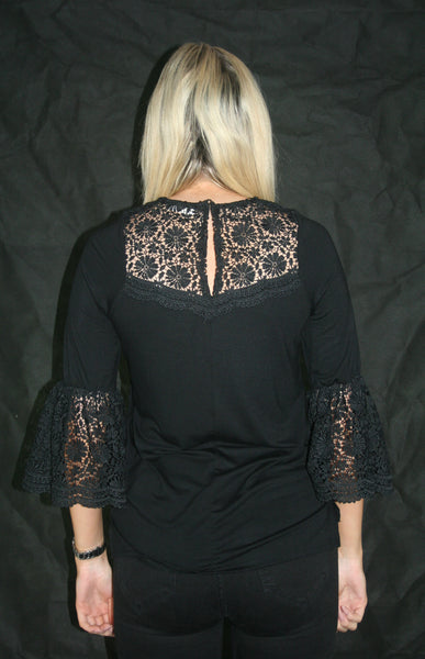 black lace top ladies