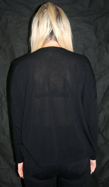black twist front cardigan ladies