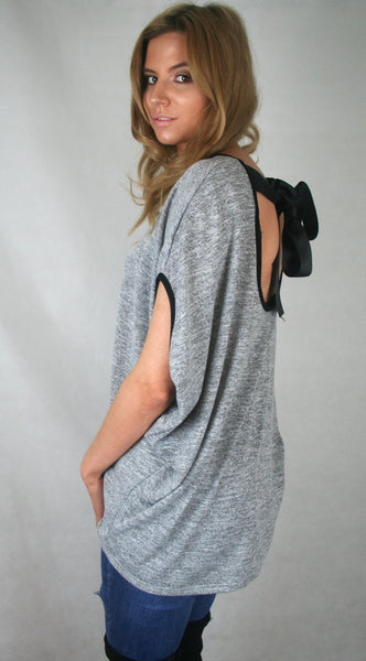 bow back slouch jumper loungewear