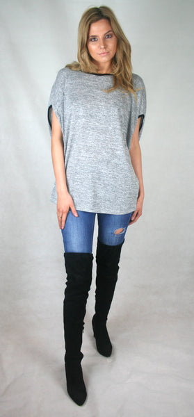 bow back slouch jumper