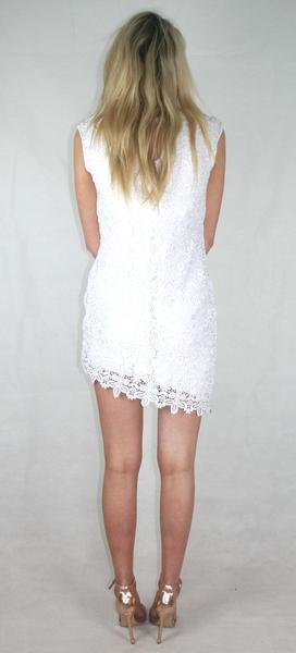 floral lace asymmetric dress ladies