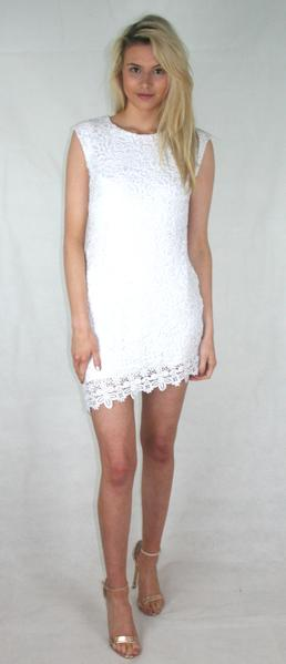 floral lace asymmetric dress