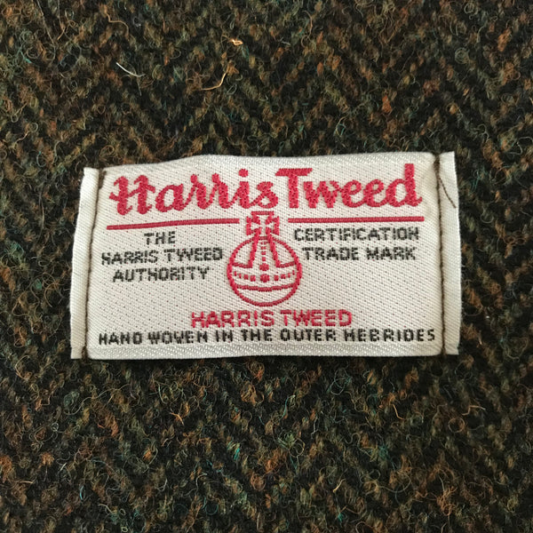 Harris Tweed Cushion - Dark Sage