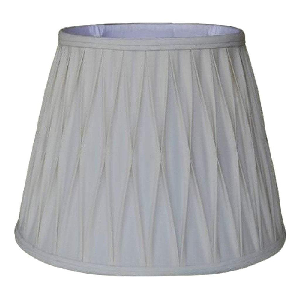 lamp shade 10.5 x 16 x 12'' / Anna Rayon / Off White Empire Windsor Smocked Pleated Lamp Shade