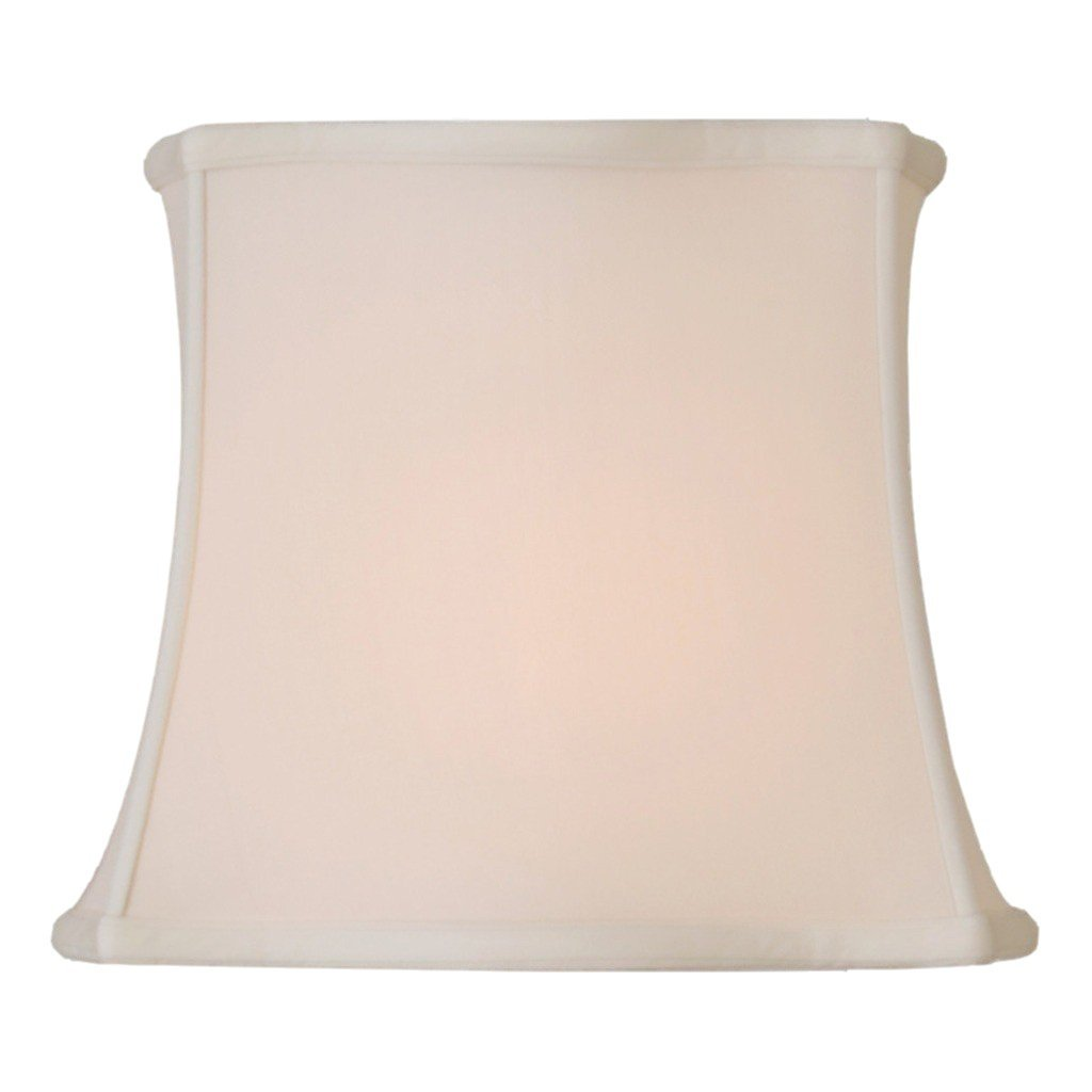 lamp shade (10 x 14) x (12 x 16) x 12'' / Pongee Silk / Sand Fancy Drumpire Rectangle 100% Real Silk Lamp Shade