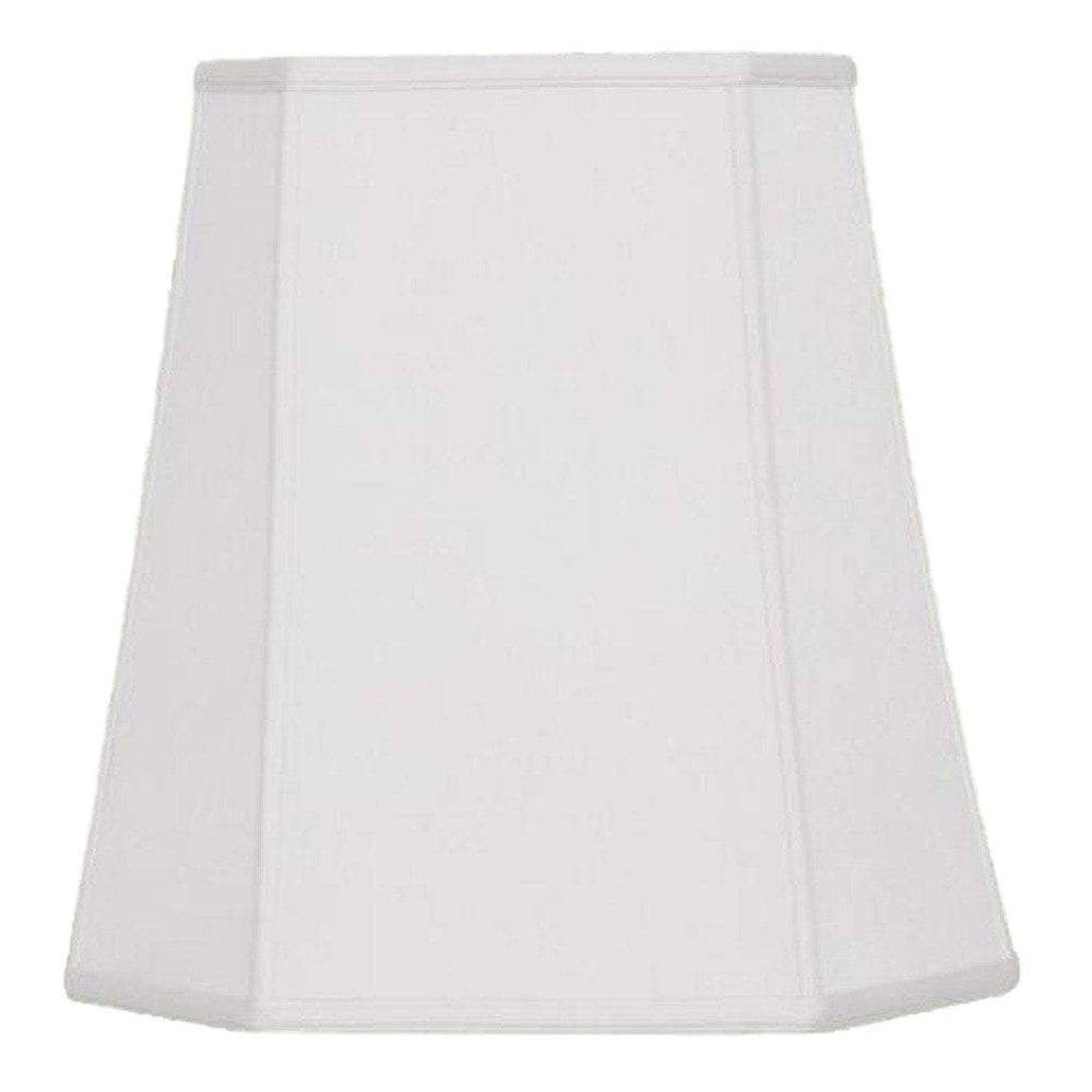 lamp shade 11 x 16 x 16'' / Supreme Satin / Off White Deep Cut Corner Square Lamp Shade