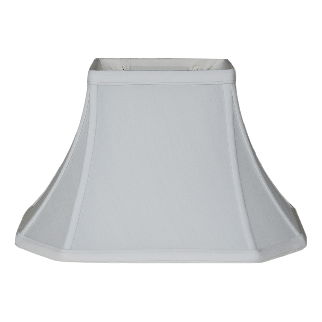 East Enterprises lamp shade (3.5 x 6) x (9 x 12) 8'' (Washer 1/2'') / Pongee Silk / Eggshell Brussels Rectangle 100% Real Silk Lamp Shade