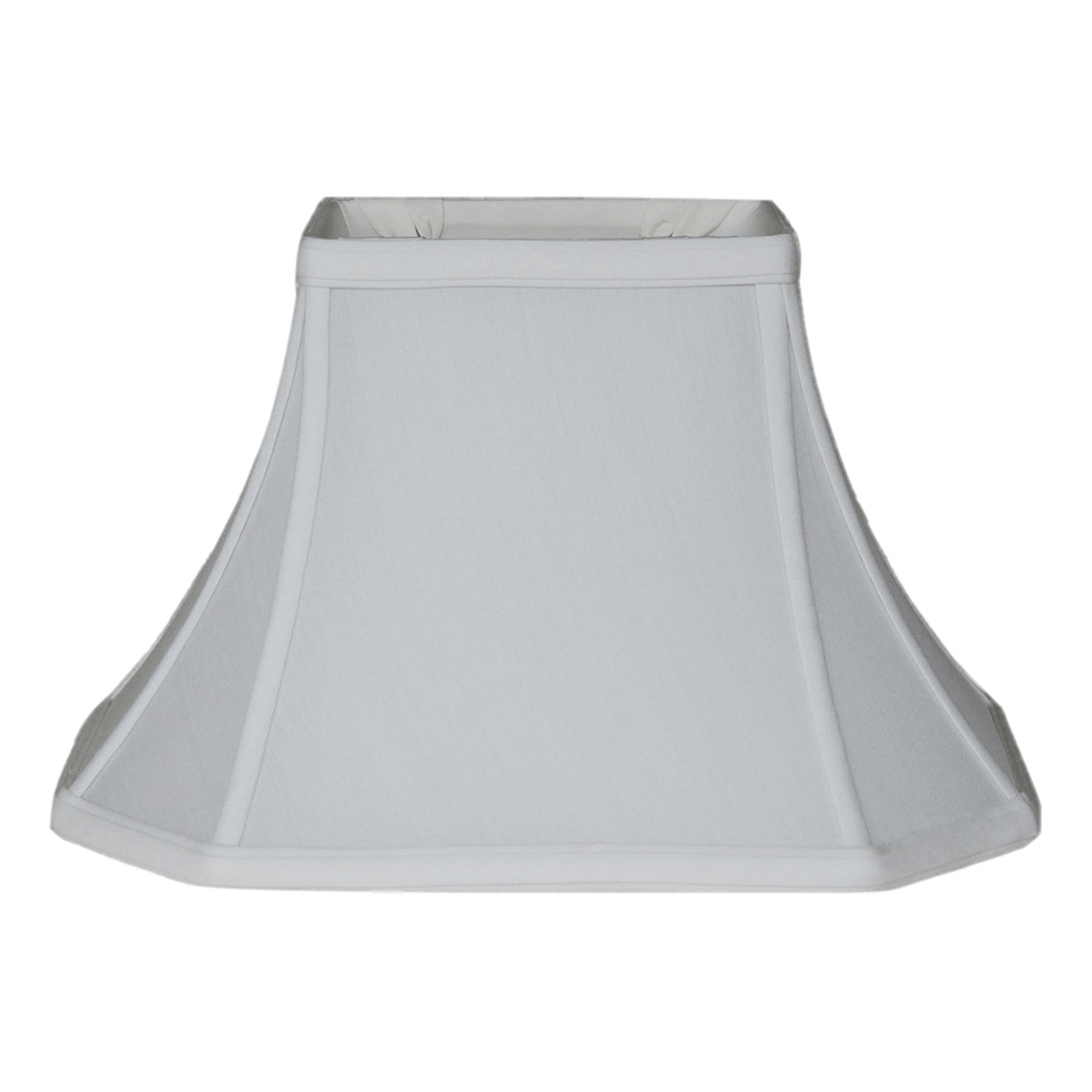 lamp shade (3.5 x 6) x (9 x 12) 8'' (Washer 1/2'') / Pongee Silk / Eggshell Brussels Rectangle 100% Real Silk Lamp Shade