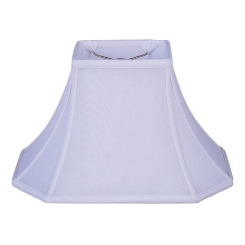 lamp shade (3.5 x 6) x (9 x 12) 8'' (Washer 1/2'') / Pongee Silk / Oyster Brussels Rectangle 100% Real Silk Lamp Shade