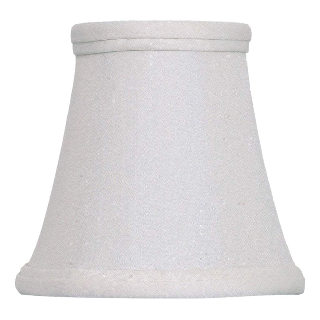 East Enterprises lamp shade 3 x 5 x 5'' (Candle Clip - No Hug) / Pongee Silk / Eggshell Bell Chandelier 100% Real Silk Lamp Shade