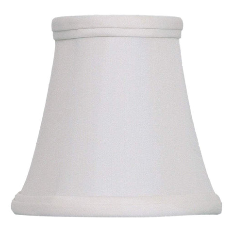 lamp shade 3 x 5 x 5'' (Candle Clip - No Hug) / Pongee Silk / Eggshell Bell Chandelier 100% Real Silk Lamp Shade