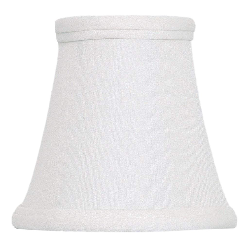 East Enterprises lamp shade 3 x 5 x 5'' (Candle Clip - No Hug) / Pongee Silk / Oyster Bell Chandelier 100% Real Silk Lamp Shade