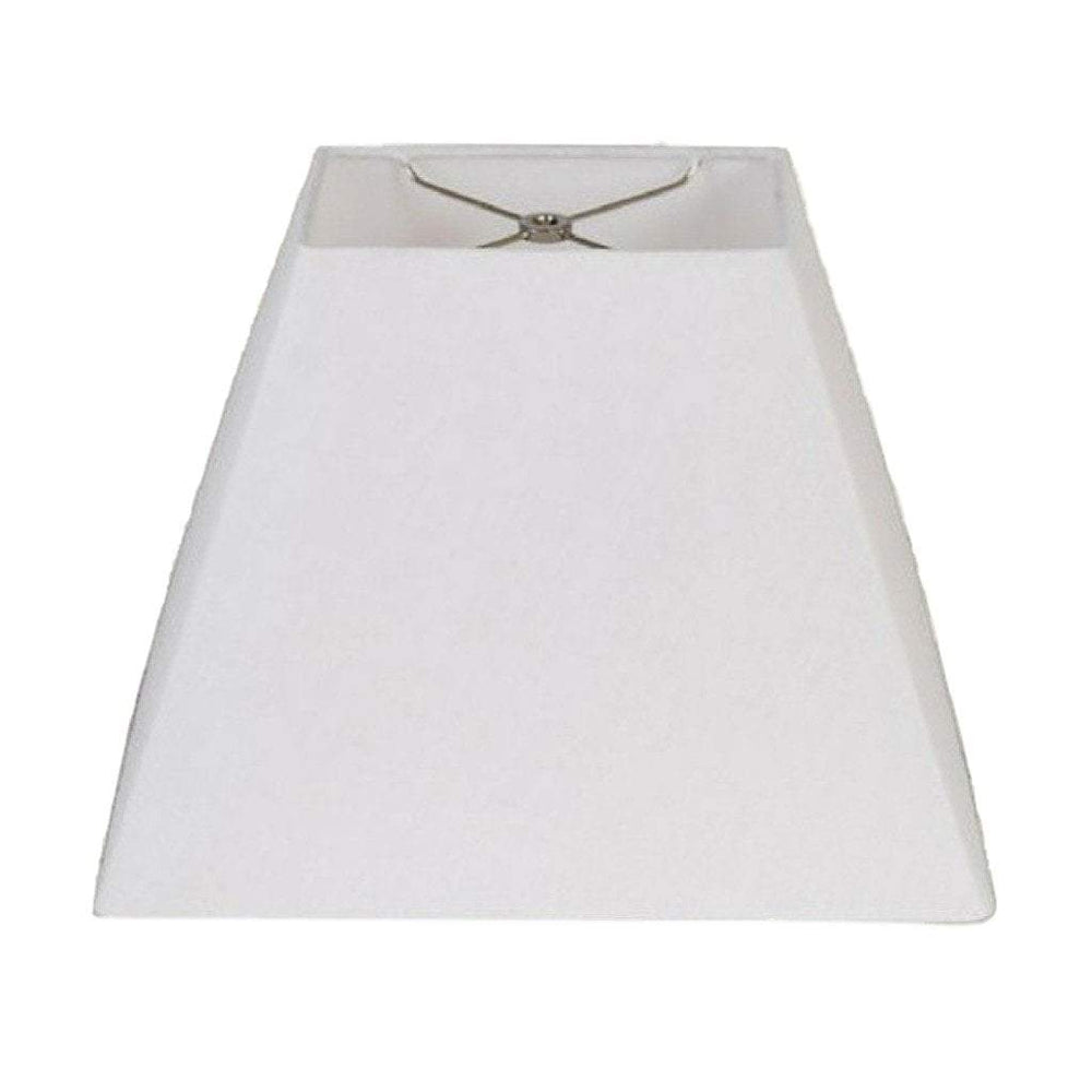 lamp shade 4.25 x 5.5 9 x 12.9'' / Flax Linen / White Rectangular Empire Hardback Lamp Shade