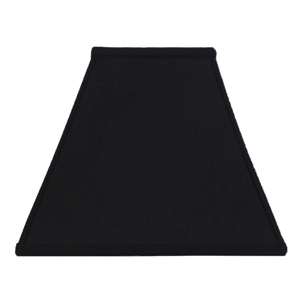 Anna Faux Silk Black Gold Lining Square Lamp Shade Contemporary Styling Lamp Shade Solution
