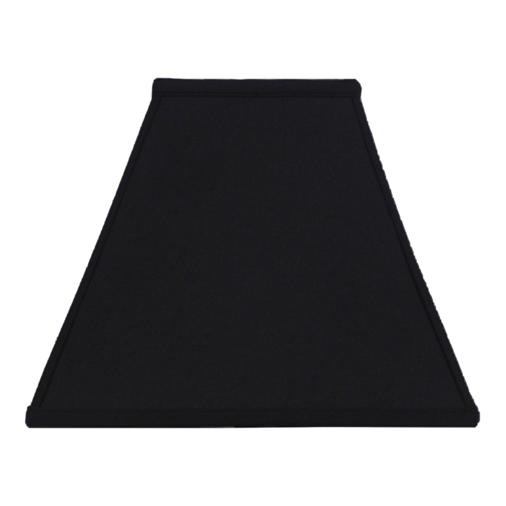 lamp shade 4.75 x 10 x 8.25'' (Washer) / Anna / Black Black Gold Lining Square Lamp Shade
