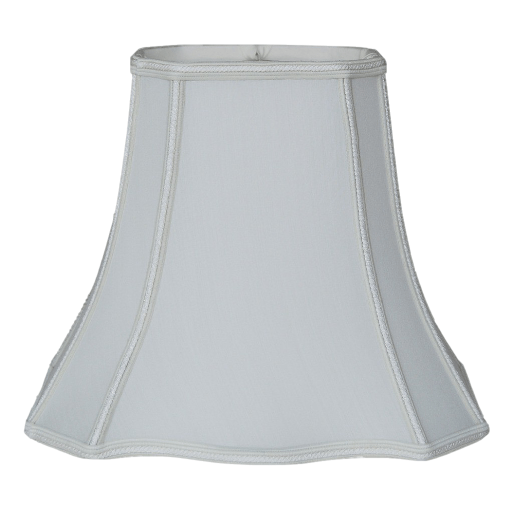Clover Rectangle Bell with Braided Trim 100% Real Silk Lamp Shade