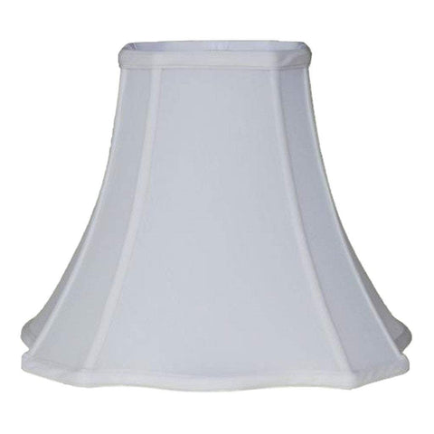 lamp shade 6 x 13 x 11'' / 100% Pongee Silk / Oyster Cut Corner Scallop Square Bell 100% Real Silk Lamp Shade