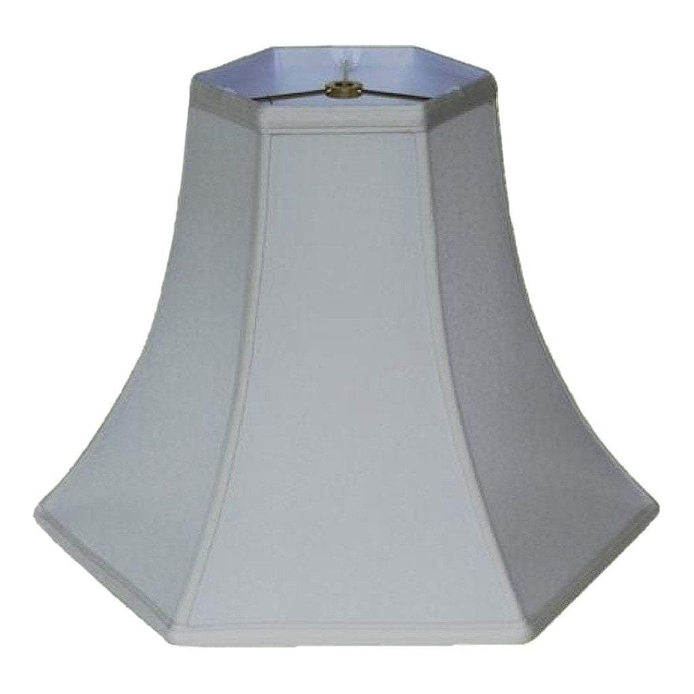 lamp shade 6 x 14 x 11'' / Supreme Satin / Off White Deep Hexagonal Bell Lamp Shade