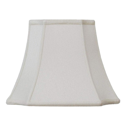 lamp shade 7.5 x 13 x 10'' (Washer) / Supreme Satin / Off White Cambridge Square Lamp Shade