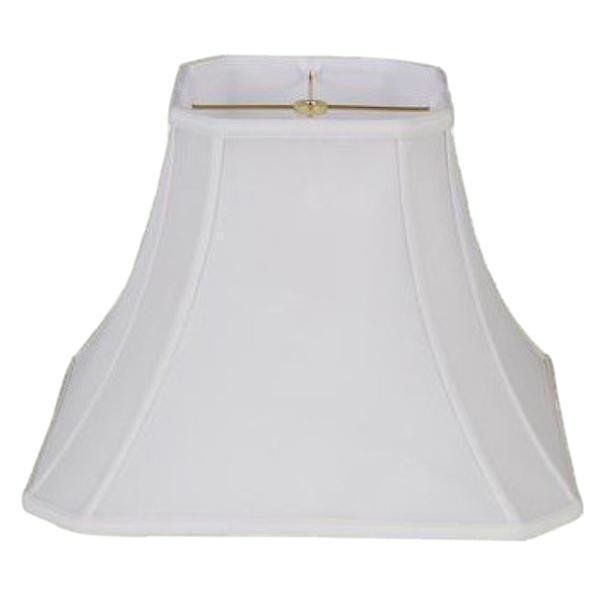 lamp shade 7.5 x 14 x 11.5'' / 100% Pongee Silk / Oyster Cut Corner Square Bell 100% Real Silk Lampshade