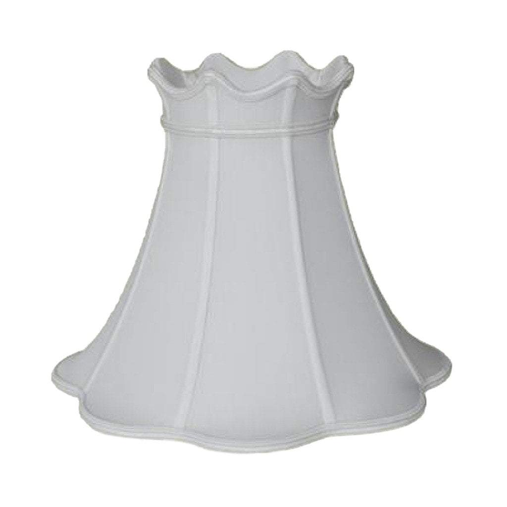 Crowned Bell With Braided Trim 100% Real Silk Lamp Shade