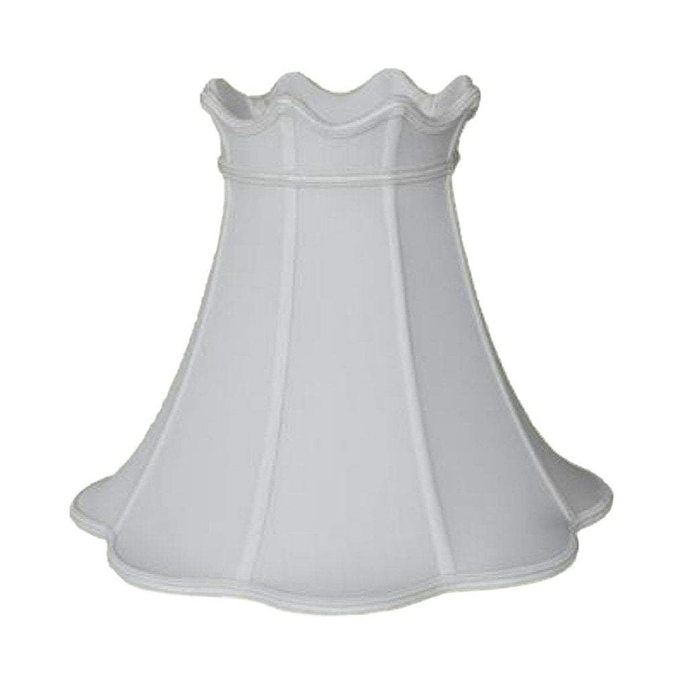 lamp shade 7 x 14 x 11.5'' / Pongee Silk / Eggshell Crowned Bell With Braided Trim 100% Real Silk Lamp Shade
