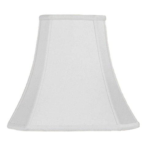 lamp shade 7 x 14 x 12.5'' / Supreme Satin / Off White Cut Corner Square Bell Lampshade