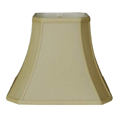 lamp shade 8 x 16 x 12.5'' / 100% Pongee Silk / Champing Cut Corner Square Bell 100% Real Silk Lampshade