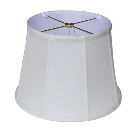 lamp shade 9 x 12 x 9'' (Washer 5/8'' Recess) / Supreme Satin / Off White European Empire Style Lamp Shade