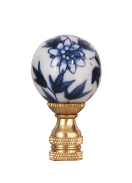 EE lamp accessories Blue & White Daisy Large Ball Finial