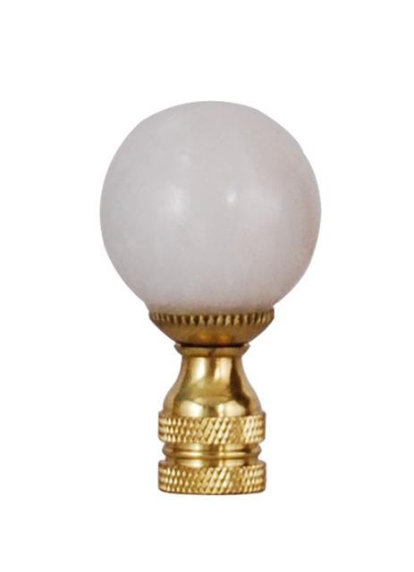 EE lamp accessories Large White Jade Stone Ball Finial