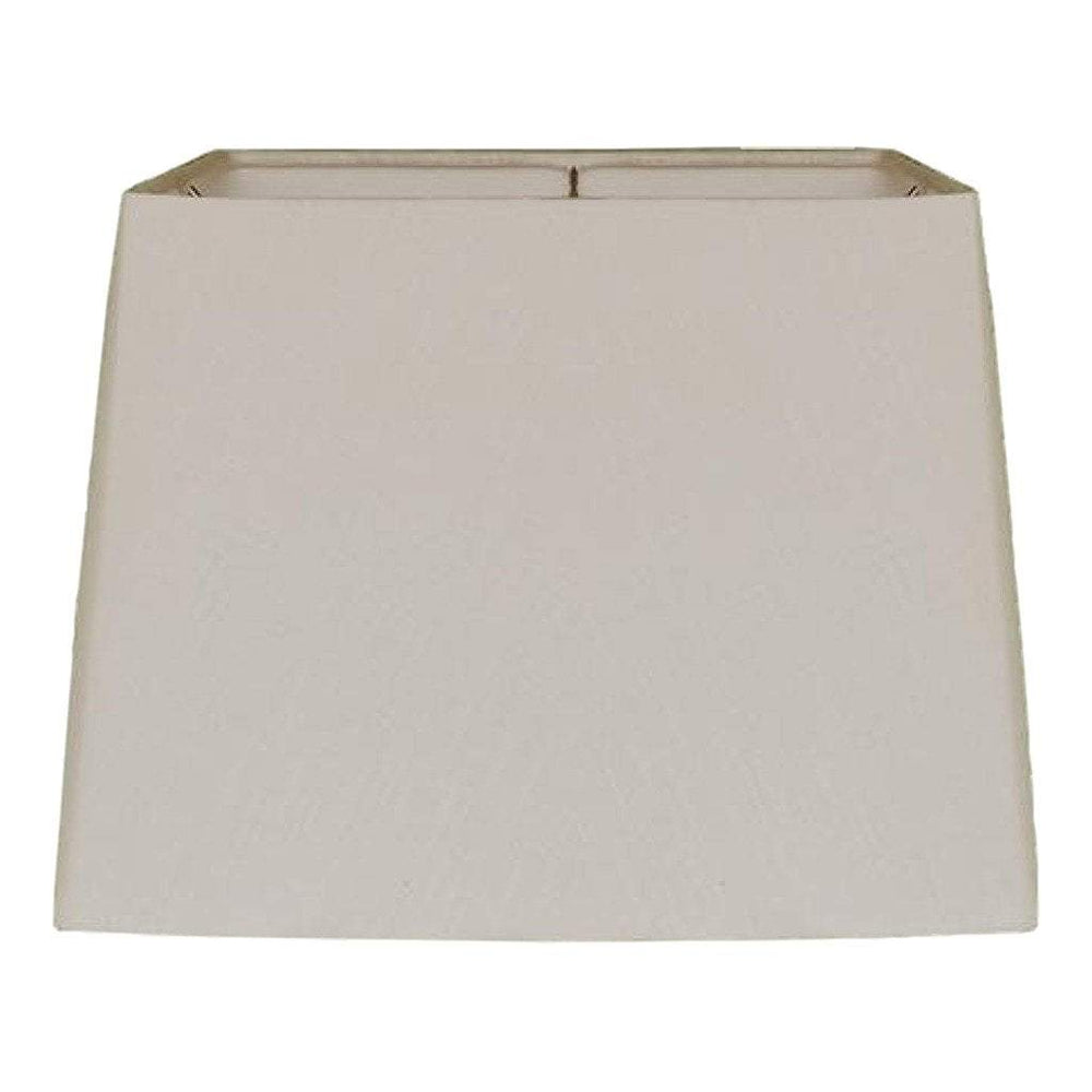 EE lamp shade 10.5 x 12 x 9'' (Washer) / Linen / Beige Linen Drum Square Hardback Lamp Shade
