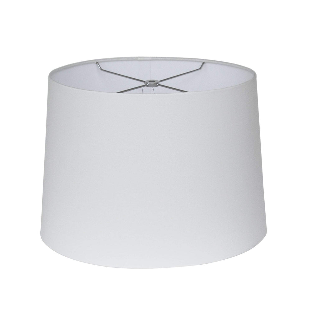 EE lamp shade 10 x 12 x 9'' / Anna / Off White Anna Drum Hardback Lamp Shade