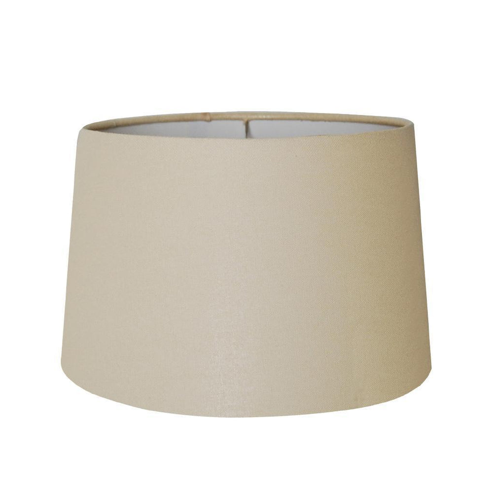 EE lamp shade 10 x 12 x 9'' Beige Linen Drum Hardback Lamp Shade