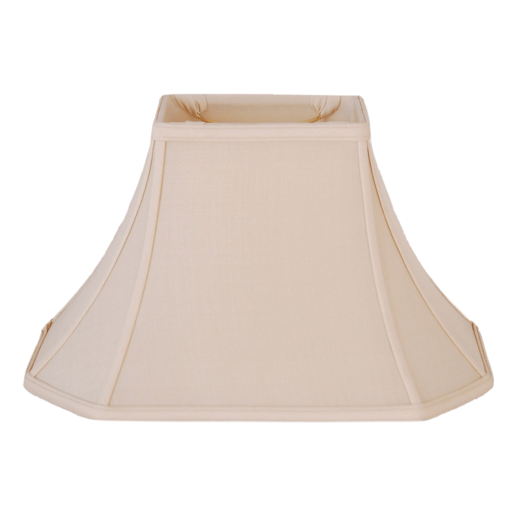 EE lamp shade (3.5 x 6) x (9 x 12) 8'' (Washer 1/2'') / Pongee Silk / Sand 100% Pongee Silk Sand Brussels Rectangle Lamp Shade