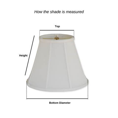 EE lamp shade 3 x 5 x 5'' (Candle Clip - No Hug) 100% Pongee Silk Sand Bell Chandelier Lamp Shades