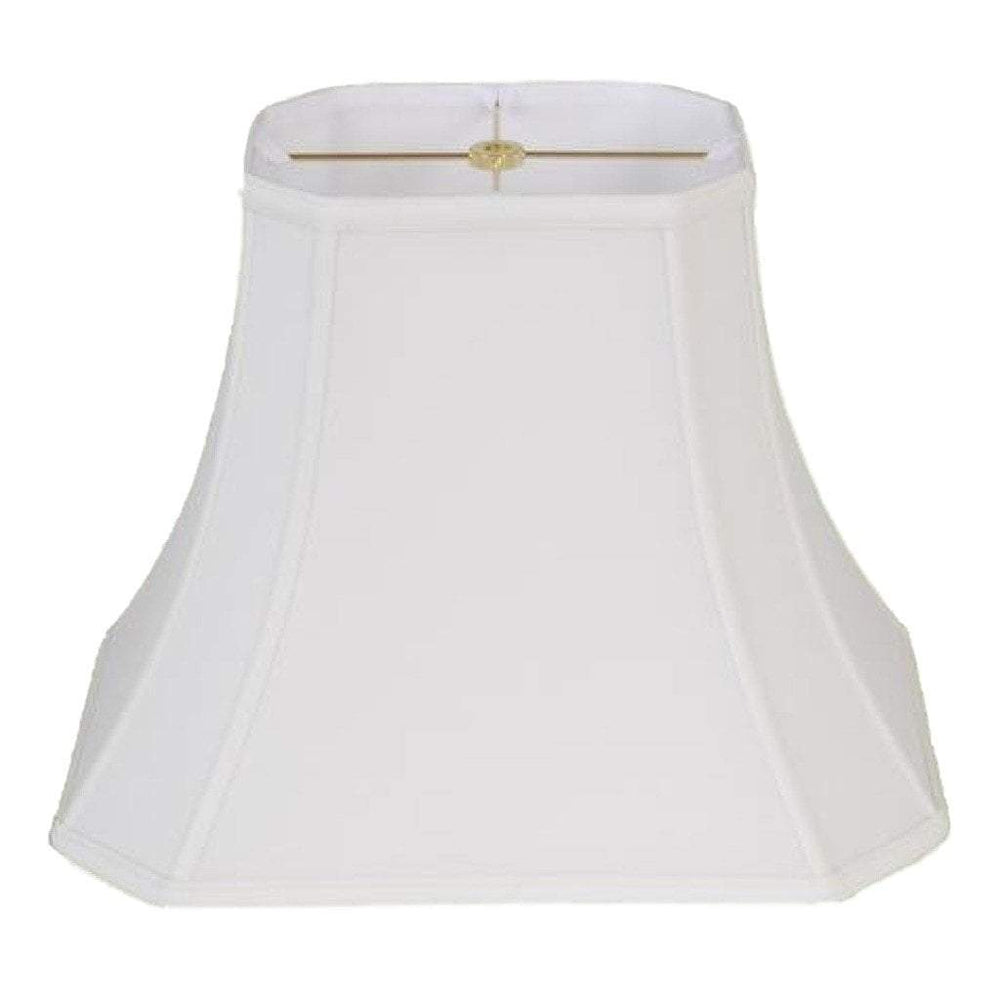 EE lamp shade (4.5 x 6) x (7 x 10) 8.5'' / Handkerchief Cotton Linen / Off White Handkerchief Cotton Linen Corner Rectangle Bell Lampshade