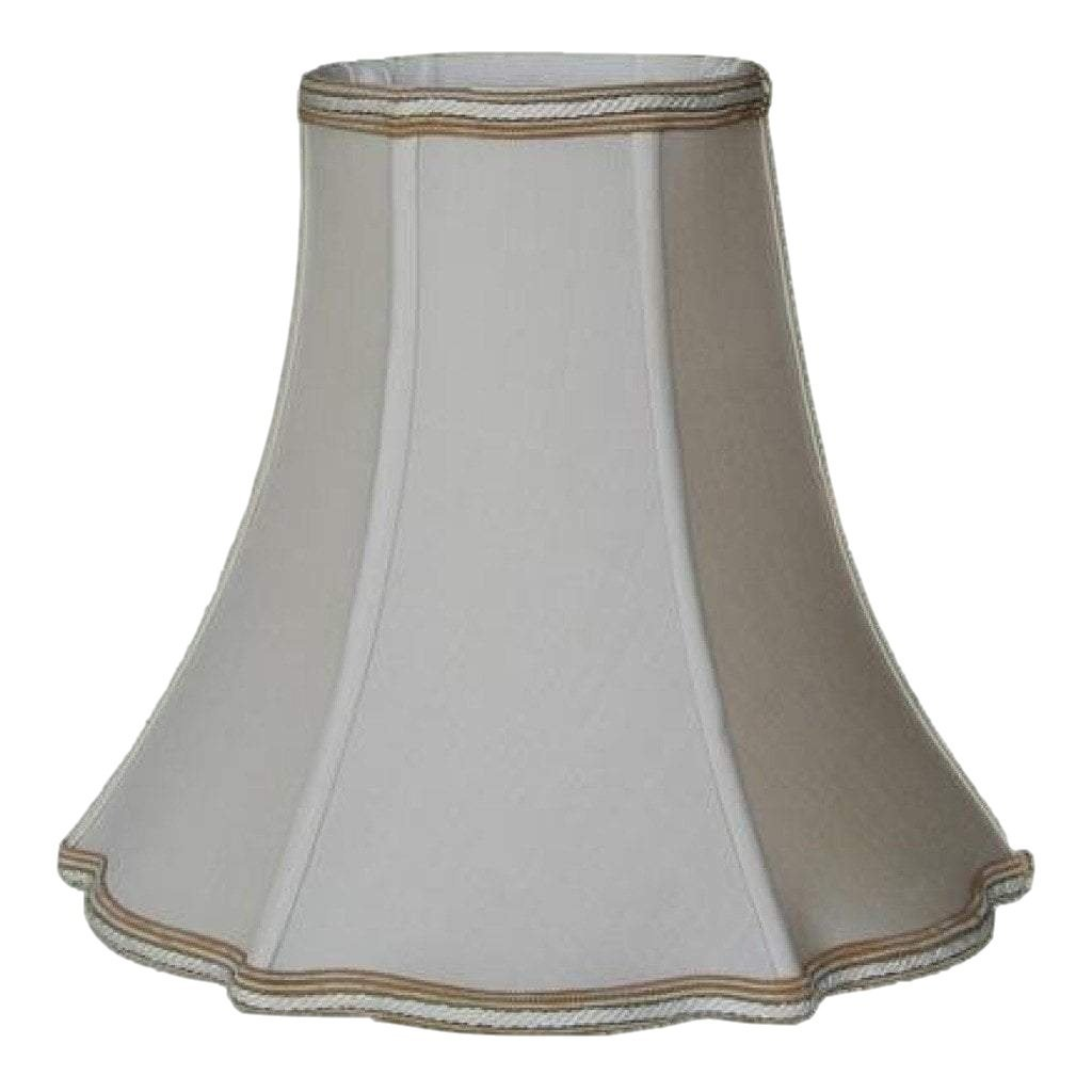 EE lamp shade 5 x 11 x 10'' (Washer 5/8'' Recess) / Pongee Silk / Sand 100% Pongee Silk Sand Cookie Cutter Style Bell Lamp Shade