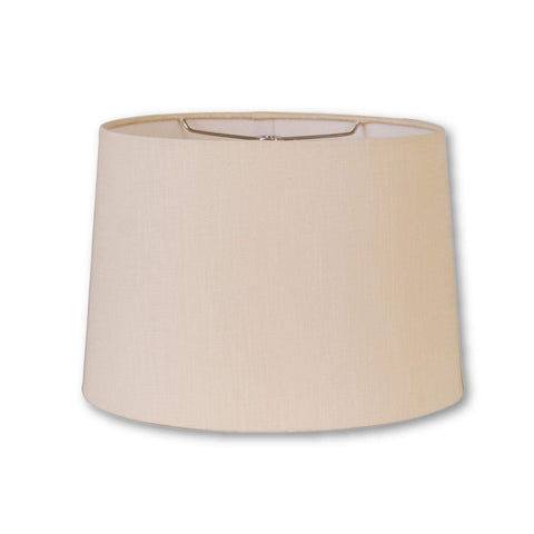 EE lamp shade (5 x 7) x (8 x 10) 7.5'' / Flax Linen / Off White Linen Retro Oval Hardback Lampshade